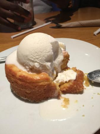 Butter cake with ice cream - Picture of California Pizza Kitchen ...
