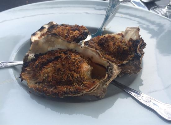 The Sand Bar & Seafood Co. Ltd.: Yummy starters - cod cheeks and Rockefeller oysters!