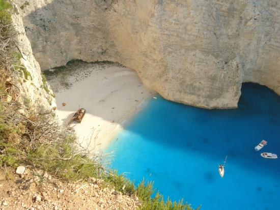 from above - Picture of Navagio Beach (Shipwreck Beach ...