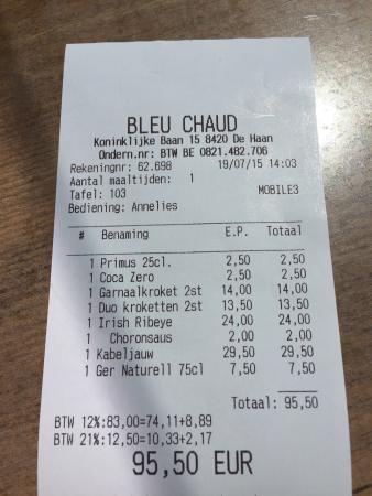De Haan, Belgique : Bleu Chaud