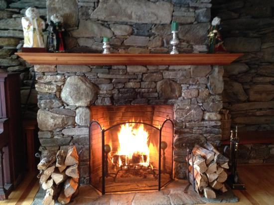 West Townshend, VT : Sitting by the fire!