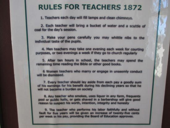 Prairie Museum of Art & History: Rules for teachers