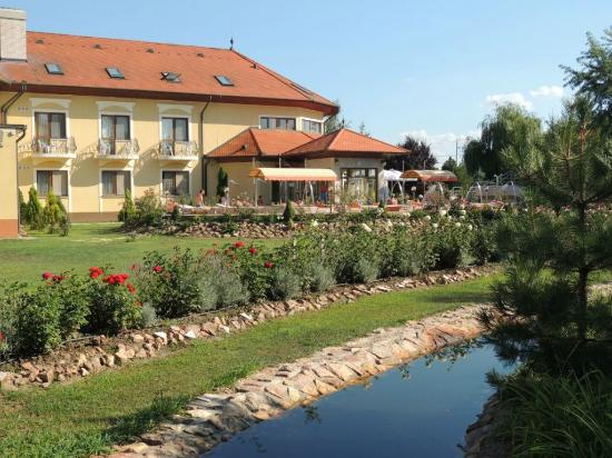 Berekfurdo, Hongaria: The garden and pool area