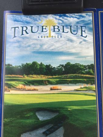 True Blue Plantation: Even the scorecard grabs your attention