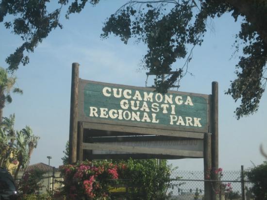 Cucamonga-Guasti Regional Park: sign
