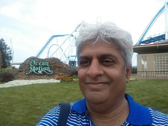 At Cedar Point with Family