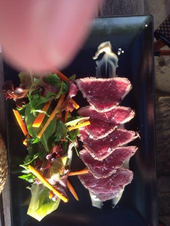 Restaurante Patría: Ochsenbäckchen, Carpaccio, Limo und Vegetarische Spinatbällchen