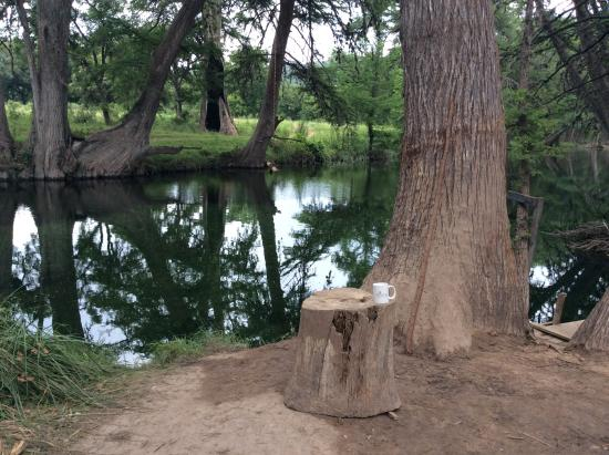 Cypress Frio Waters : morning coffee view