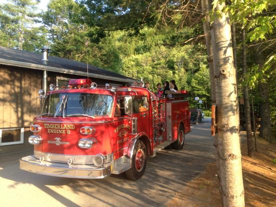 Timberland Campground: Fire Truck Rides Nightly for Kids of all ages