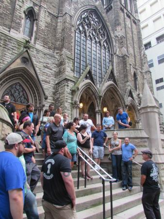 Pensilvania: Our tour group at the First Presbyterian Church of Pittsburgh