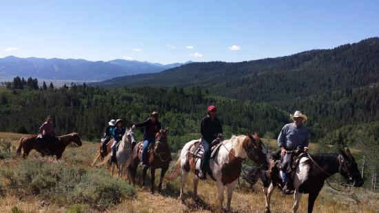 Bagley's Teton Mountain Ranch: Kent leading our group