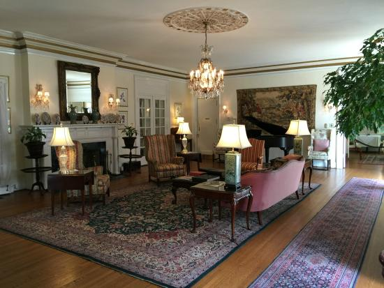 The Morehead Inn: The main parlor