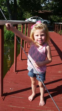 Pond Mountain Lodge and Resort: She was so happy to catch a fish!  Such fun!