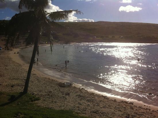 Anakena Beach: A praia de um outro ângulo