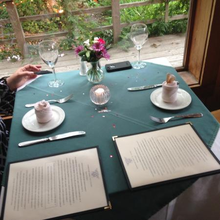 The 955 Ukiah Street Restaurant: table set special for our special evening