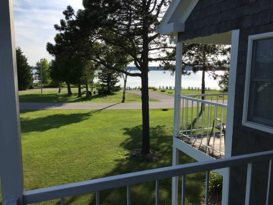 Baileys Harbor, WI: View from balcony