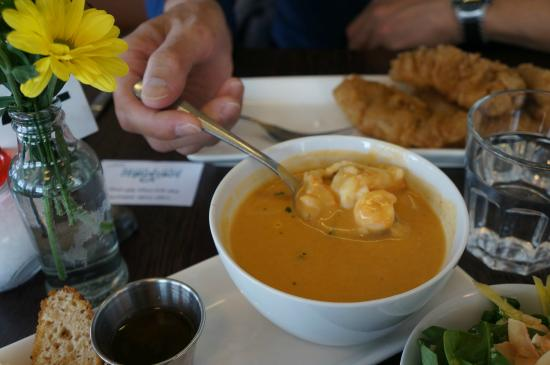 Lobster bisque picture of icelandic fish chips for Icelandic fish and chips