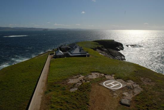 Precision Helicopters: View from the balcony of the lighthouse.