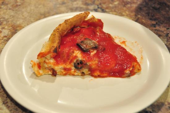 Joe's Pizza and Pasta: Slice of deep-dish pizza.