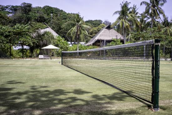 Nikoi Island : Natural grass tennis court and croquet court