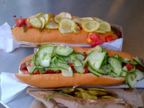 Arbor Restaurant: Foot Long Dogs Fully Loaded