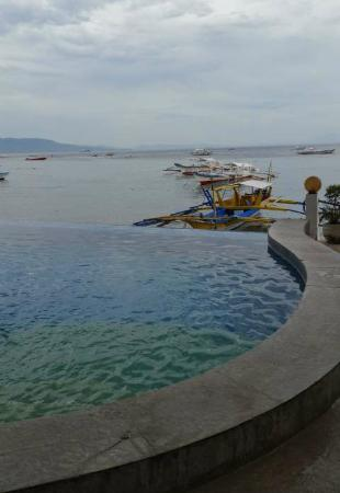 Angelyn's Dive Resort: The infinity pool by the beach