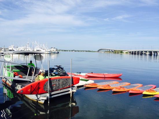 Jensen Beach, FL: Launch site at marriott marina