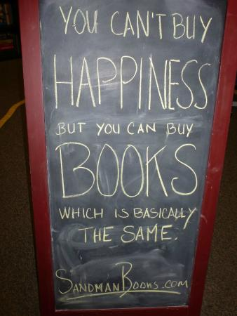 Sandman Book Company: Books = Happiness