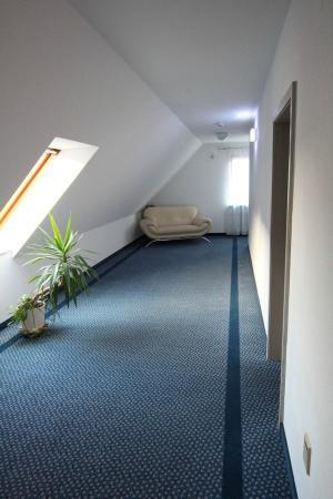 Hirschengarten Hotel: The top hallway