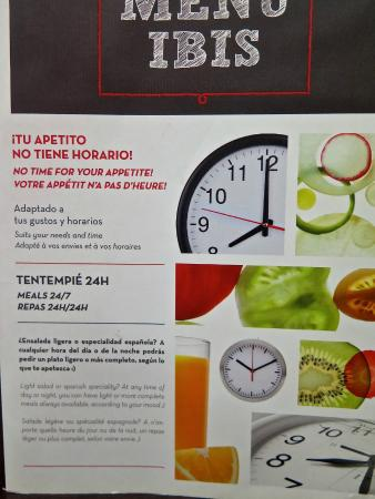 Ibis Barcelona Mataro: меню