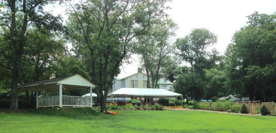 Flint Hill, VA: Back of inn has spacious lawns for simple relaxation and play
