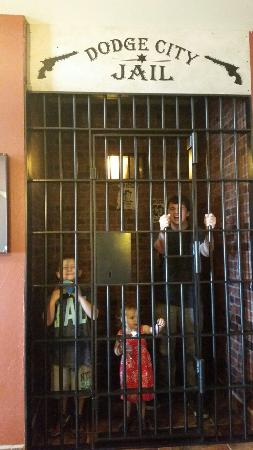 Best Western Plus Country Inn & Suites: Our kiddos loved the jail cell in the lobby.