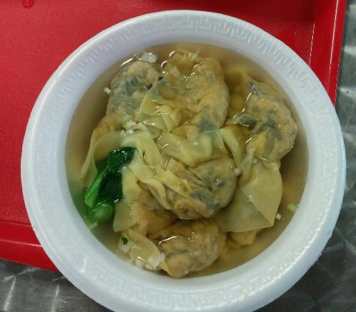 Harlam's Kitchen: Pork and shrimp dumplings in soup ($4.75). Plump and tasty.