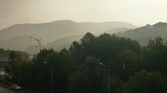 Отель Олимпия-Лазаревское: Это вид с балкона на горы