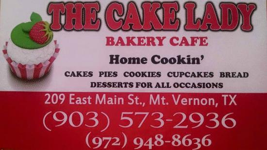 The Cake Lady Cafe on Main Street Mount Vernon