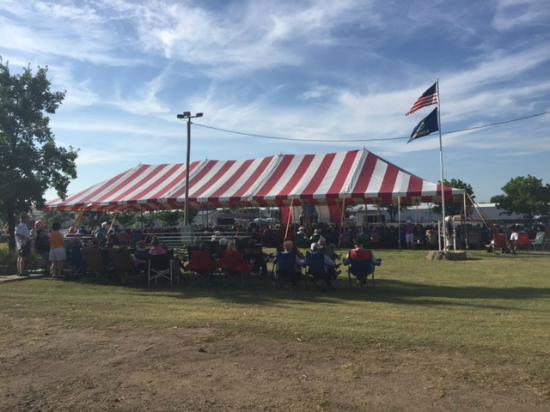 Colby, KS: Tent Near the Stage