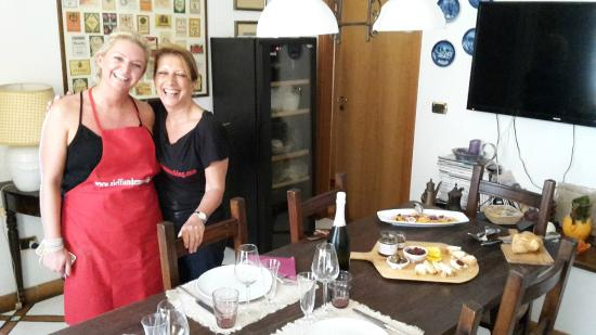 Sicilian Demo Cooking: Cooking with Fiora.....great memory!