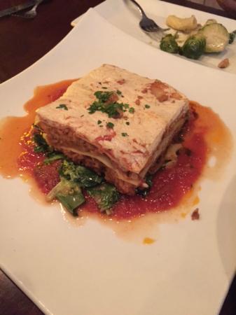 Blossom Vegan Restaurant Lasagna