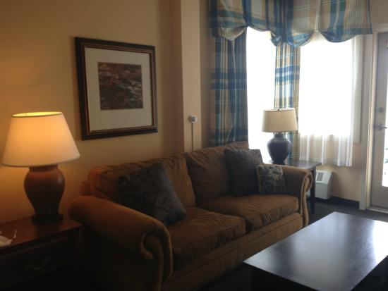 BEST WESTERN PLUS Landing Hotel : Sofa and Window Treatments