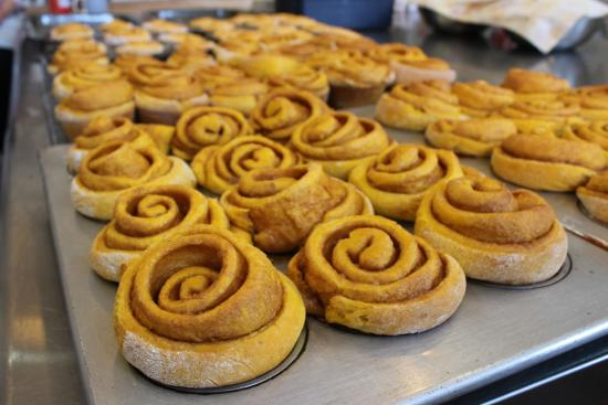 ... House Bakery: Amish Pumpkin CInnamon Rolls waiting for Caramel Icing