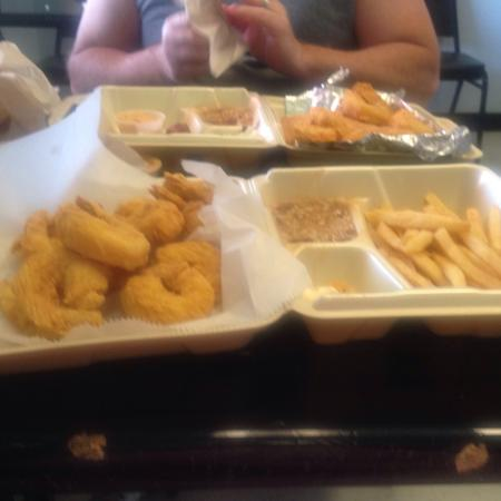 Just a simple 3 fish 3 shrimp 3 chicken strips picture for Plenty of fish cost