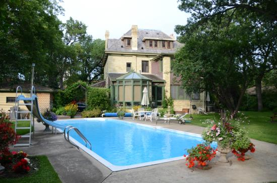 Beechmount Bed and Breakfast: The private backyard with large pool.