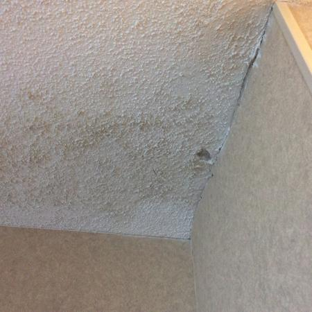 Water stained ceiling