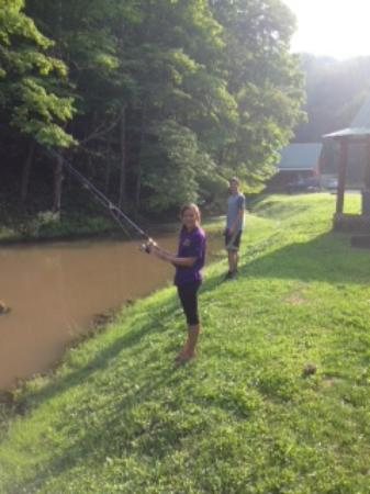 Hillbilly Haven Log Cabin Rentals: fish!