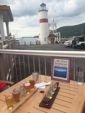 Lake Front Restaurant Great Setting And Nice Flights Of Ny Beer Wine