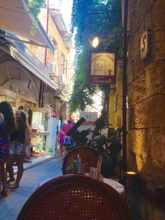 Veneto-Ristorante Italiano: Veneto. Exterior early evening July 2015