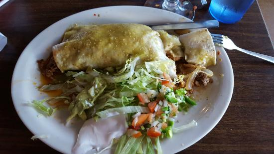 San Marco's : Ranchero Buritto, with chicken, beef, and Chorizo,   very tasty