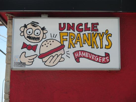 Uncle Franky's: Super sign on east side of building