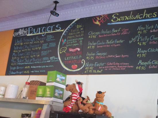 Uncle Franky's: Burger Menu Board