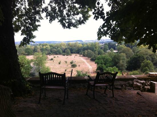 Chambre d'hotes les Indrins : Vue terrasse